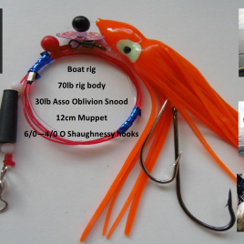Sea fishing Rig 1 Hook Muppet Boom Pennel Rig – Deep Sea Boat Rig Cod Ling