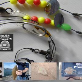 2 hook flatty flapper Sea fishing Rig – Rigs N Bits Newcastle Dab Turbot Plaice