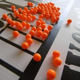 Rig making beads 8mm Florescent orange x 100 UK produced