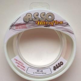 Asso UltraFlex Shockleader & Rig Body Sea Fishing Line 50m Spool – 60lb clear