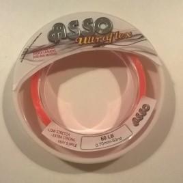 Asso UltraFlex Shockleader & Rig Body Sea Fishing Line 50m Spool – 60lb orange