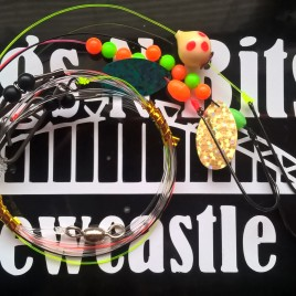 Sea fishing Rig x 3 – 3 hook flapper – Amnesia snoods – Dab, Cod, flounder, Bass